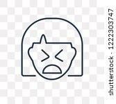 creepy vector outline icon... | Shutterstock .eps vector #1222303747