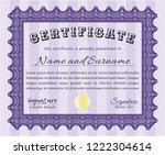 violet diploma. complex... | Shutterstock .eps vector #1222304614