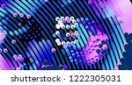 abstract vector background dot... | Shutterstock .eps vector #1222305031