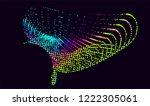 abstract vector background dot... | Shutterstock .eps vector #1222305061