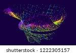 abstract vector background dot... | Shutterstock .eps vector #1222305157
