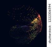 abstract vector background dot... | Shutterstock .eps vector #1222306594