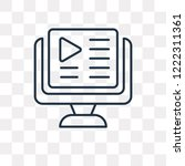 video tutorial vector outline... | Shutterstock .eps vector #1222311361