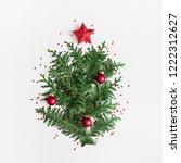 chrristmas tree made of... | Shutterstock . vector #1222312627