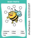 illustration of bee vocabulary... | Shutterstock .eps vector #1222313107