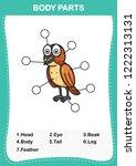 illustration of bird vocabulary ... | Shutterstock .eps vector #1222313131