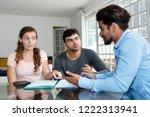 american couple asking... | Shutterstock . vector #1222313941