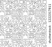 shopping and e commerce vector... | Shutterstock .eps vector #1222317811