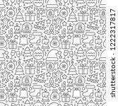 christmas seamless pattern | Shutterstock .eps vector #1222317817