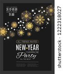 happy new year party poster... | Shutterstock .eps vector #1222318027
