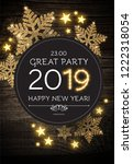 hapy new 2019 year poster... | Shutterstock .eps vector #1222318054