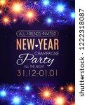 happy hew year poster template  ... | Shutterstock .eps vector #1222318087