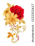 decorative ornament  paisley...   Shutterstock . vector #1222322617