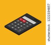 flat vector calculator icon... | Shutterstock .eps vector #1222334857