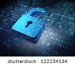 security concept  blue opened... | Shutterstock . vector #122234134