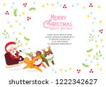merry christmas card decoration ... | Shutterstock .eps vector #1222342627