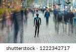 the black mannequin standing in ...   Shutterstock . vector #1222342717