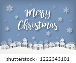 christmas greeting card in...   Shutterstock .eps vector #1222343101