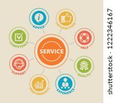 service. concept with icons and ... | Shutterstock . vector #1222346167