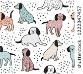 childish seamless pattern with... | Shutterstock . vector #1222347457