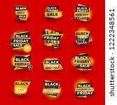 set of black friday sale... | Shutterstock .eps vector #1222348561