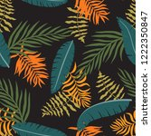 tropical background with palm... | Shutterstock .eps vector #1222350847