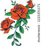 rose art decoration  | Shutterstock .eps vector #1222351171