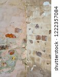 empty old distressed painted... | Shutterstock . vector #1222357084