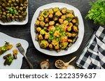 arabic cuisine  egyptian... | Shutterstock . vector #1222359637