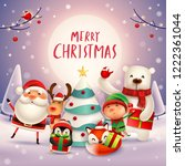 merry christmas  happy... | Shutterstock .eps vector #1222361044