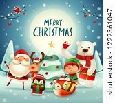 merry christmas  happy... | Shutterstock .eps vector #1222361047