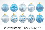 set of vector gold silver and... | Shutterstock .eps vector #1222366147