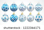 set of vector gold silver and... | Shutterstock .eps vector #1222366171