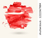 red ink paint spots. drops... | Shutterstock .eps vector #1222367884