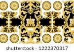 Antique Period Baroque Gold...