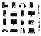 electronic icons vector | Shutterstock .eps vector #12223717