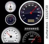 set of speedometer vector | Shutterstock .eps vector #12223720