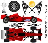 formula car and objects vector | Shutterstock .eps vector #12223723