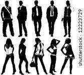 fashion women and men vector | Shutterstock .eps vector #12223729