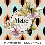 flower framing. lilies and text ... | Shutterstock .eps vector #1222377421