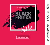 black friday sale background.... | Shutterstock .eps vector #1222381501
