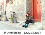 beautiful asian women in old...   Shutterstock . vector #1222383094
