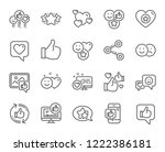 social media line icons. set  ... | Shutterstock .eps vector #1222386181