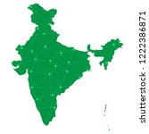 map of india from polygonal... | Shutterstock .eps vector #1222386871
