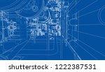 sketch of industrial equipment. ... | Shutterstock .eps vector #1222387531