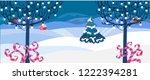 vector illustration. winter... | Shutterstock .eps vector #1222394281