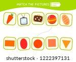 matching children educational... | Shutterstock .eps vector #1222397131