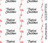 bearded flamingo tropical santa ... | Shutterstock .eps vector #1222397551