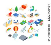 light aviation icons set.... | Shutterstock .eps vector #1222400494