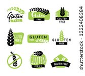 gluten free drawn isolated sign ... | Shutterstock .eps vector #1222408384